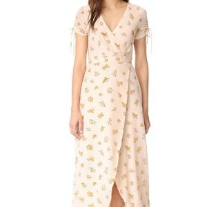 Madewell Field Bouquet Silk Maxi Dress Size 4